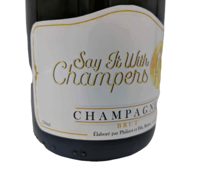 Personalised Champagne Wedding Gift UK Delivered Birthday Anniversay Proposal Graduation Corporate Say It With Champers - Group