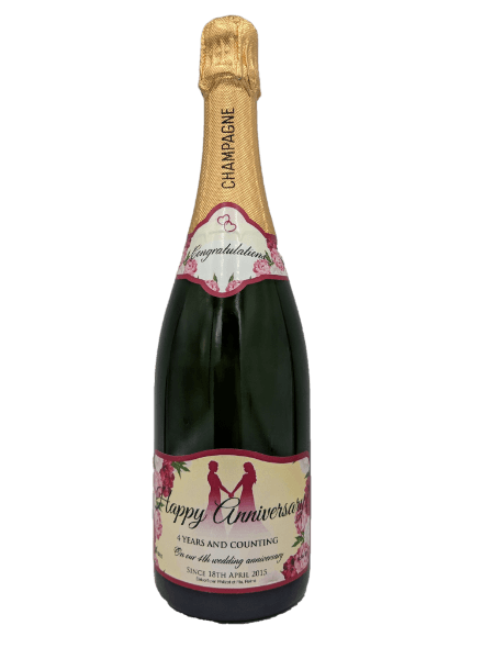 Personalised Champagne Anniversary Gift UK Delivered Birthday Anniversay Proposal Graduation Hen Party