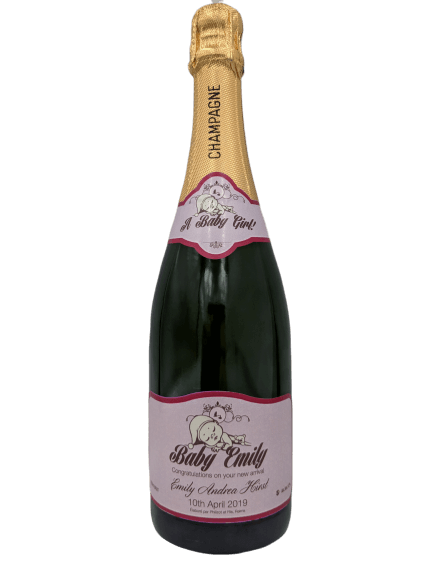 Personalised Champagne Wedding Gift UK Delivered Birthday Anniversay Proposal Baby Girl Hen Party