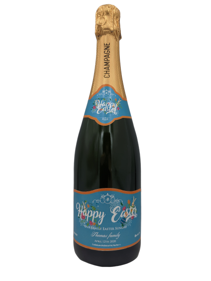 personalised champagne easter sparkling wine gift present gay easter