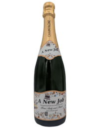 "alt=""New job personalised champagne bottle, perfect unique gift for all occasions, with customised wine present label"""