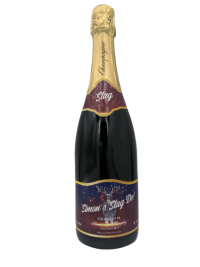 "alt=""Stag do personalised champagne bottle, perfect unique gift for all occasions, with customised wine present label"""