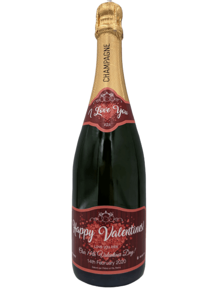 Personalised Champagne Wedding Gift UK Delivered Birthday Anniversay Romance Graduation Hen Party