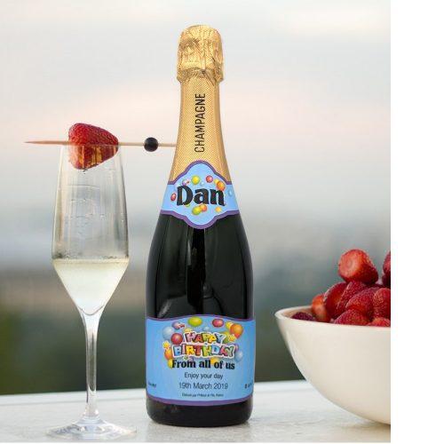 personalised champagne wedding birthday sparkling 50th Birthday Champagne Bottle