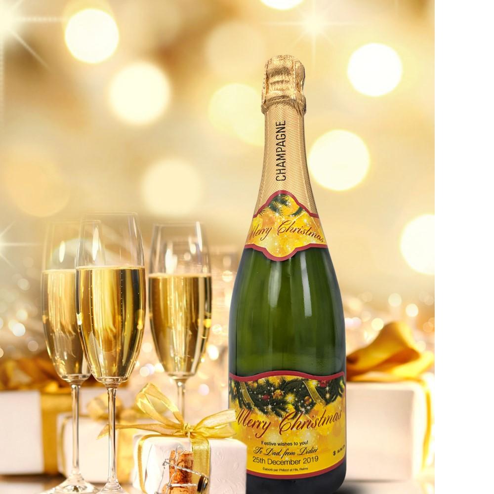 personalised champagne wedding birthday sparkling wine gift present