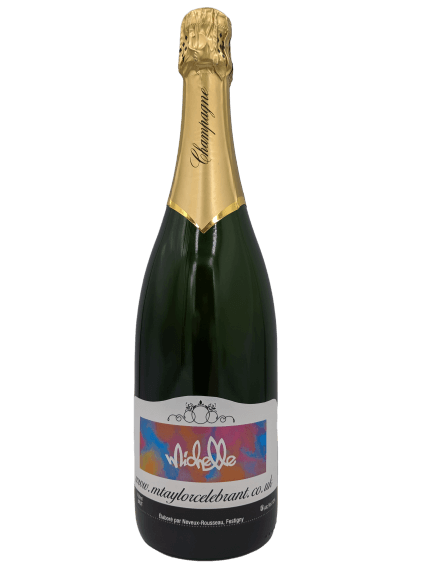 personalised champagne wedding birthday sparkling wine gift present gay corporate