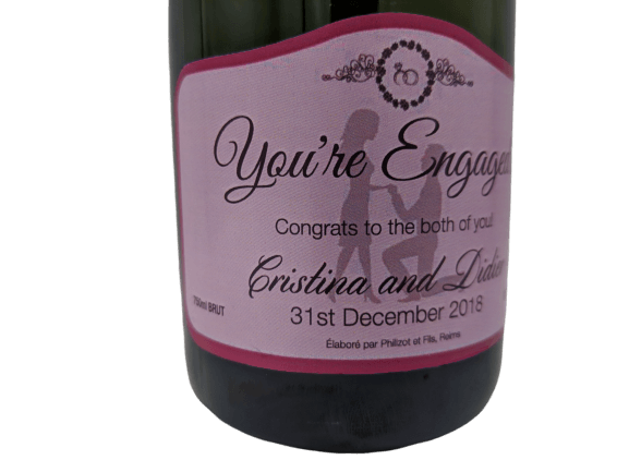 Personalised Champagne Engagement Gift UK Delivered Birthday Anniversay Proposal Graduation Hen