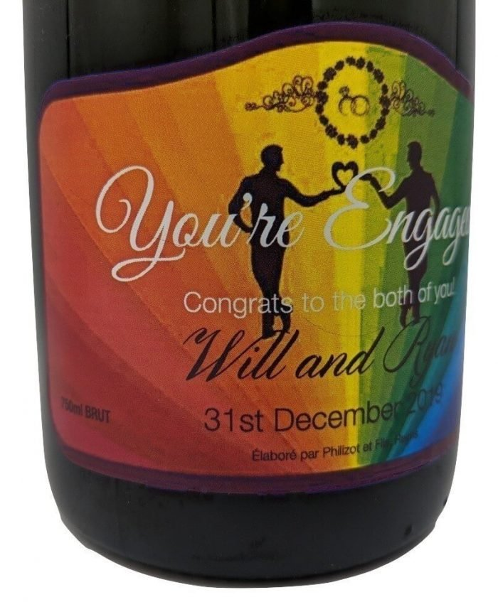 Personalised Champagne Engagted Gift UK Delivered Birthday Anniversay Proposal Engagement Hen Party