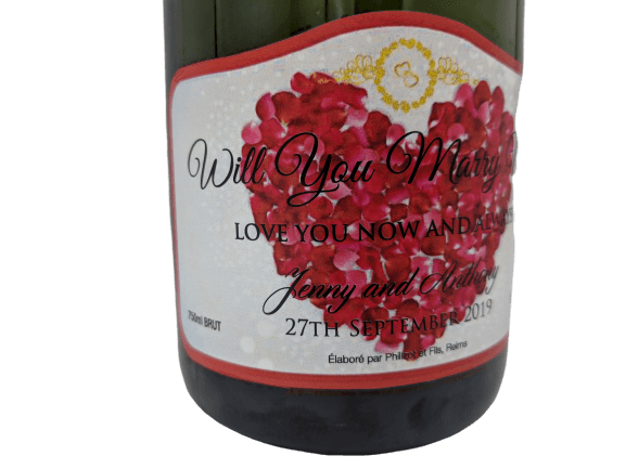 Personalised Champagne Wedding Gift UK Delivered Birthday Anniversay Proposal Graduation Hen Party