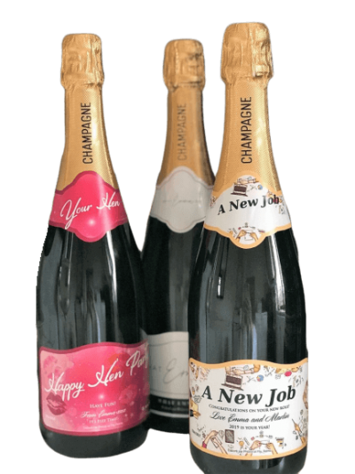 Personalised Champagne Mother's Day Gift UK Birthday Anniversay Proposal Graduation Hen Party