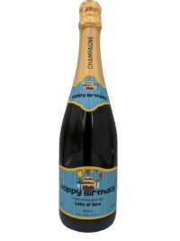 Personalised Champagne Wedding Gift UK Delivered Birthday Anniversay Proposal Graduation Hen Party Say It With Champers - Happy