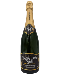 Personalised Champagne New Year Gift UK Delivered Birthday Anniversay Proposal Graduation Hen Party Say It With Champers - Party