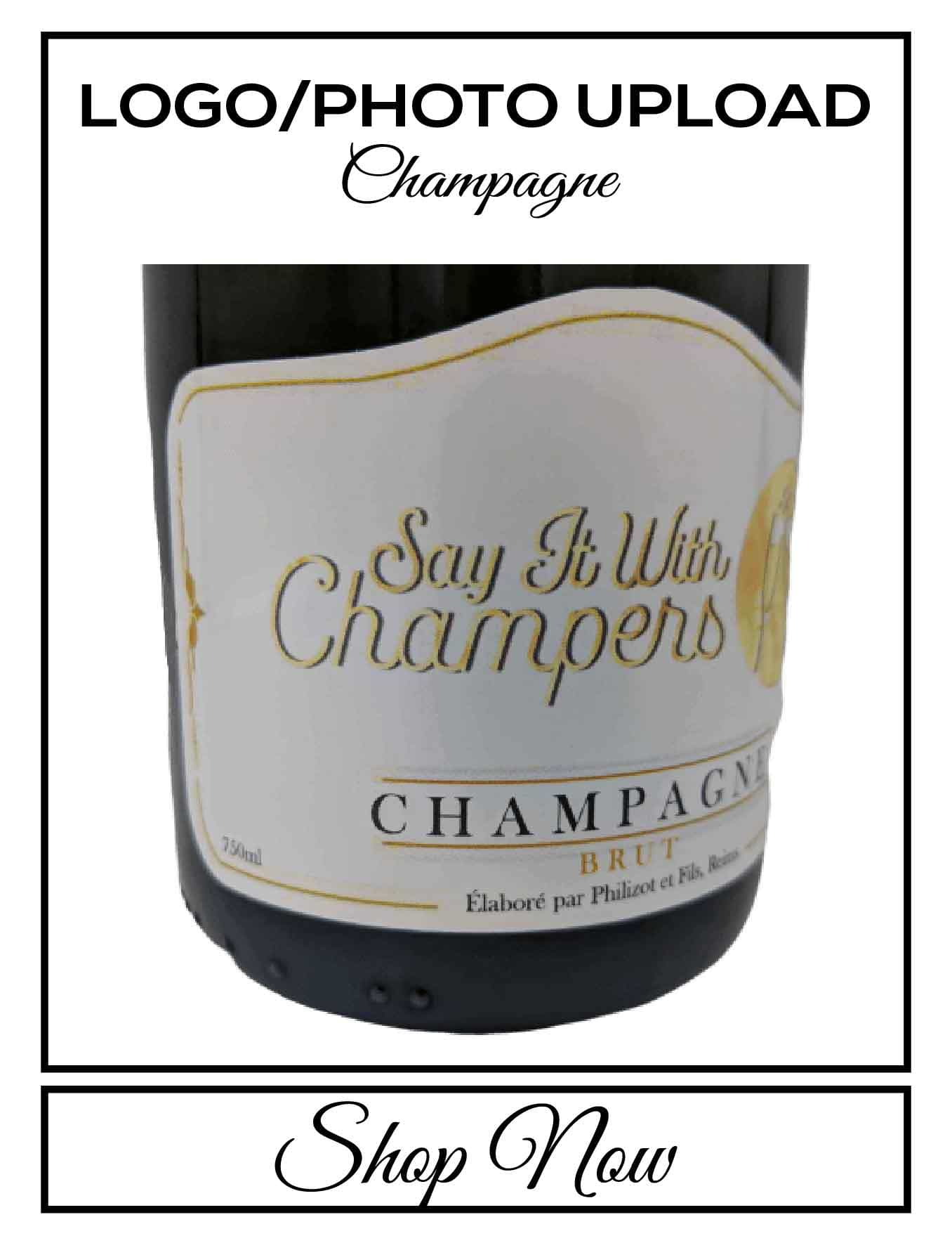 personalised Champagne customised bottle label delivery uk sparkling wine photo upload gift present bespoke unique