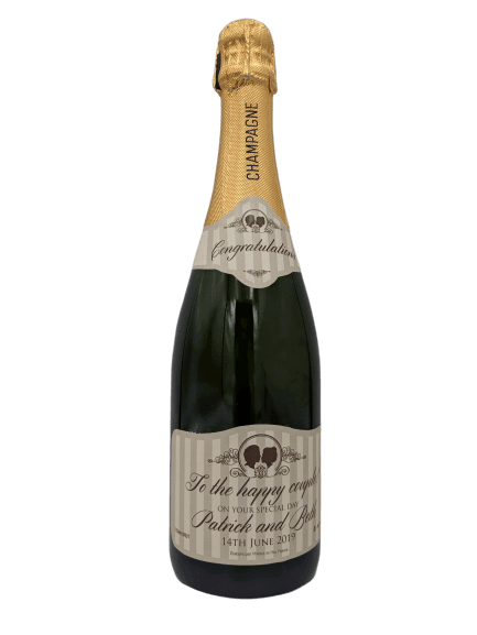 personalised Champagne customised bottle label delivery uk sparkling wine great wedding gift present bespoke unique design