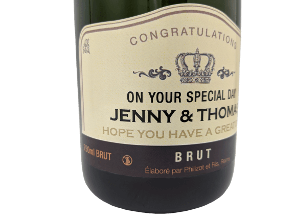 personalised Champagne customised bottle label delivery uk sparkling wine birthday gift present bespoke unique design