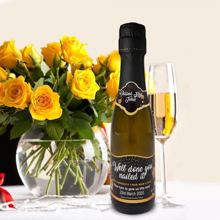personalised mini prosecco gift corporate celebration 20cl miniature