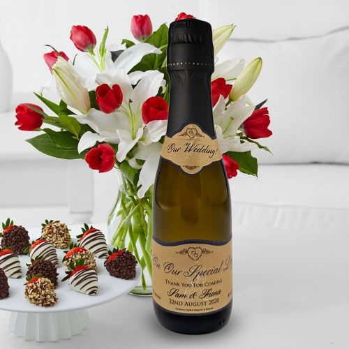 personalised mini prosecco gift corporate celebration 20cl miniature