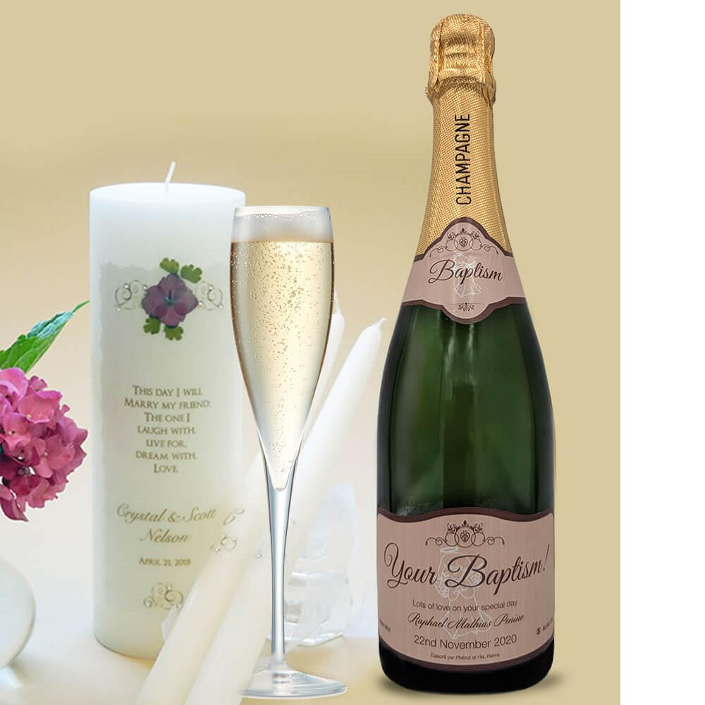 personalised champagne wedding birthday sparkling wine gift present