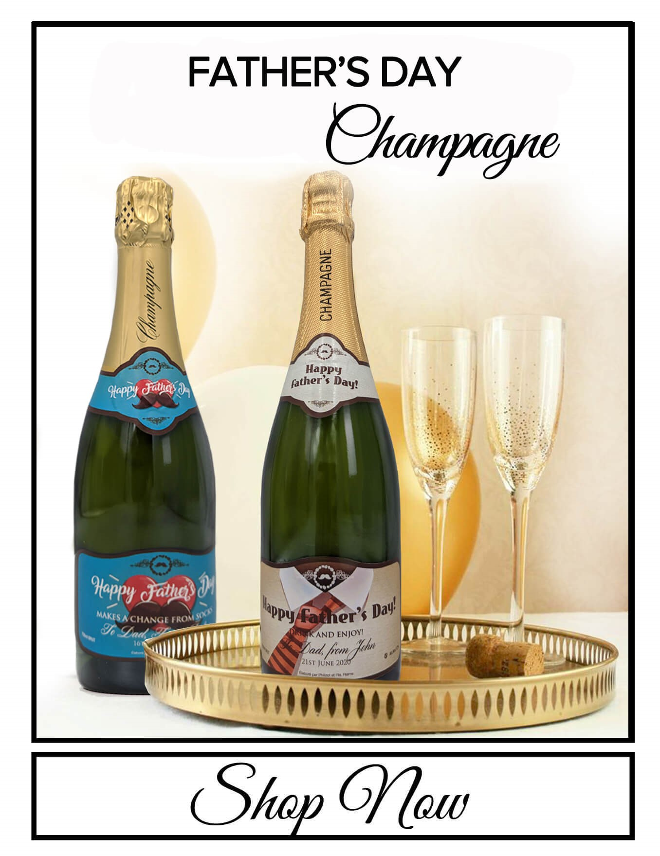 personalised Champagne bottle label delivery uk sparkling wine valentine's gift present