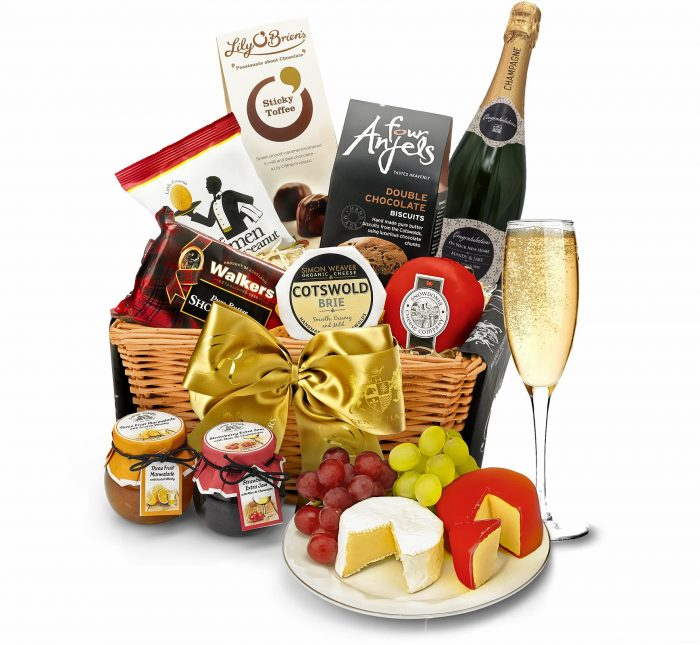 corporate hampers champagne personalised business gift luxury