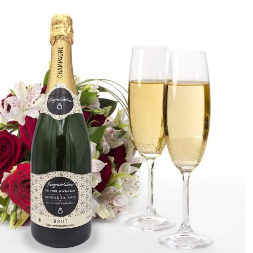 personalised champagne corproate branded business