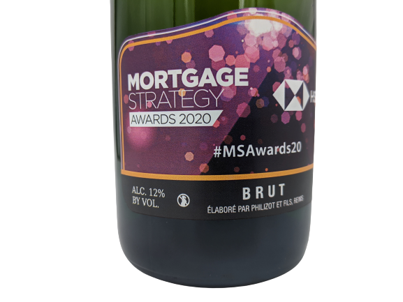 hsbc mortage strategy awards corporate champagne personalised gift