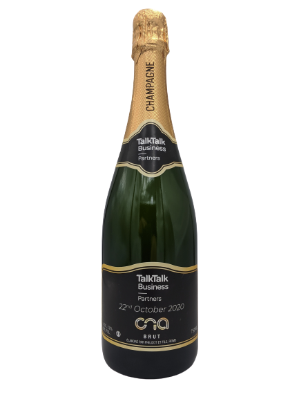 talktalk cna awards personalised champagne corporate gift