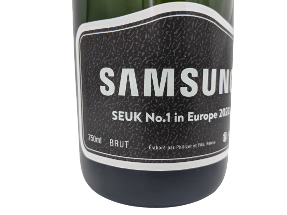 samsung champagne bottle corporate gift bubbly branded merchandise