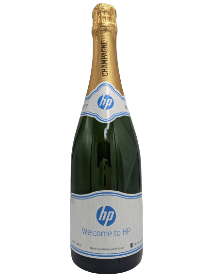 hewlett packard champagne corporate gift personalised promotional merchandise